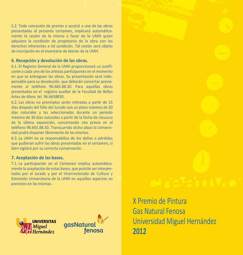 X premio de pintura gas natural fenosa umh 2012 for Oficina gas natural valencia