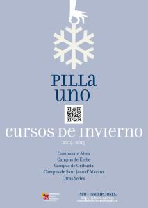 Cartel cursos de invierno 2014-2015