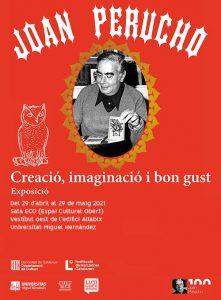 Cartel exposición Joan Perucho. Creació, imaginació y bon gust