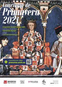 Cartel Concierto Primavera 2021 PNEUMA UMH